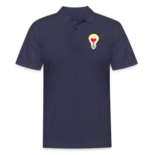 Liebesglühbirne - Männer Poloshirt