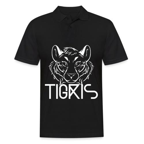 Tigris Logo Picture Text White - Men's Polo Shirt
