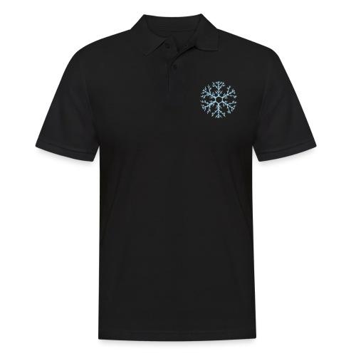 schneeflocke-hellblau-ver - Männer Poloshirt
