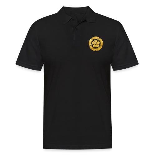 Oda Mon Japanese samurai clan faux gold on black - Men's Polo Shirt