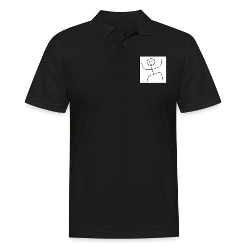 lady t-shirt stick man - Herre poloshirt