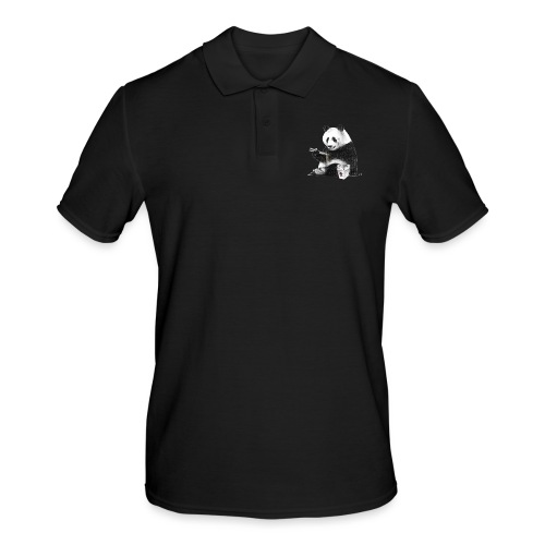 Panda Eating Noodles - Men's Polo Shirt