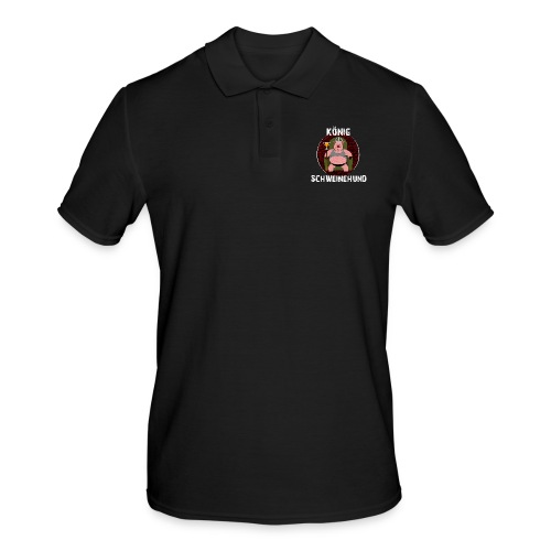 König Schweinehund BLACK - Men's Polo Shirt