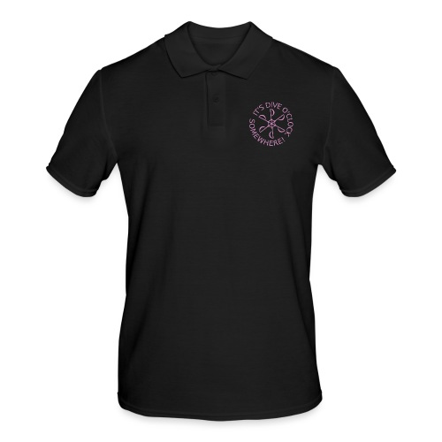 Dive o clock Pink - Men's Polo Shirt