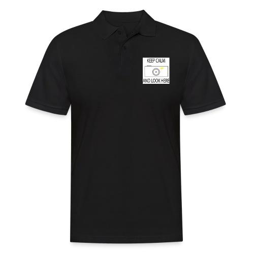 Keep calm and look here - Männer Poloshirt