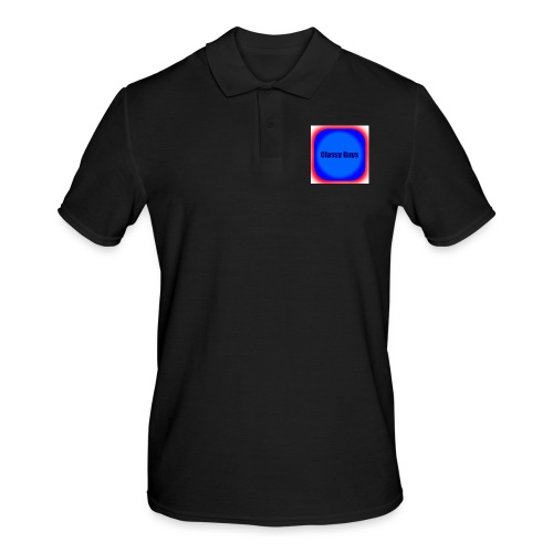 Blue and red logo - Men's Polo Shirt