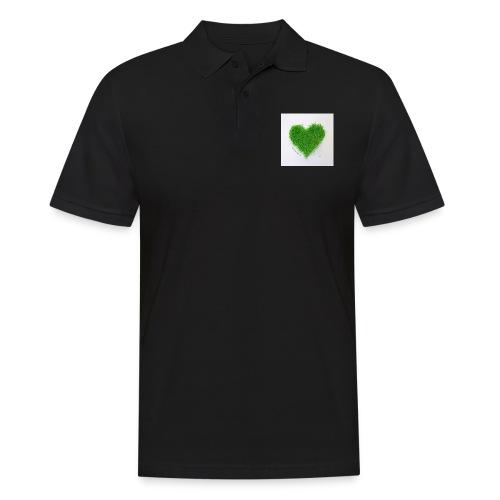 Herzrasen Button - Männer Poloshirt