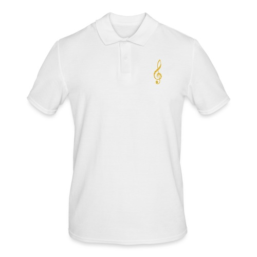 Goldenes Musik Schlüssel Symbol Chopped Up - Men's Polo Shirt