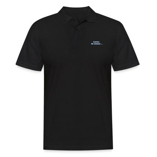capture the moment photographer`s slogan - Men's Polo Shirt