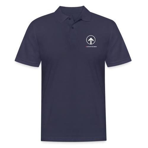 Conversionator mit Pfeil (weiß) - Männer Poloshirt