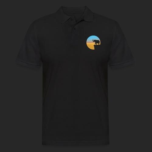 Sunset Elephant - Men's Polo Shirt