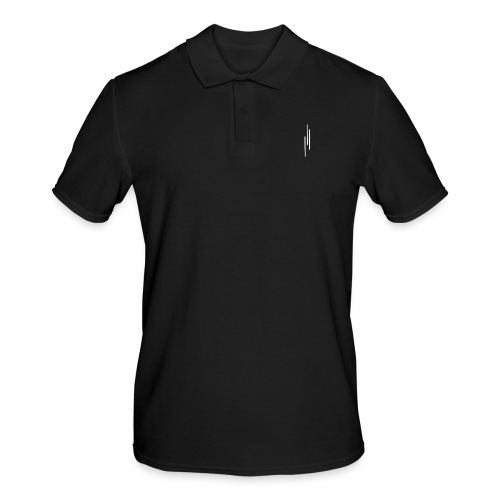 Upwards 3Lines Design WHITE - Men's Polo Shirt