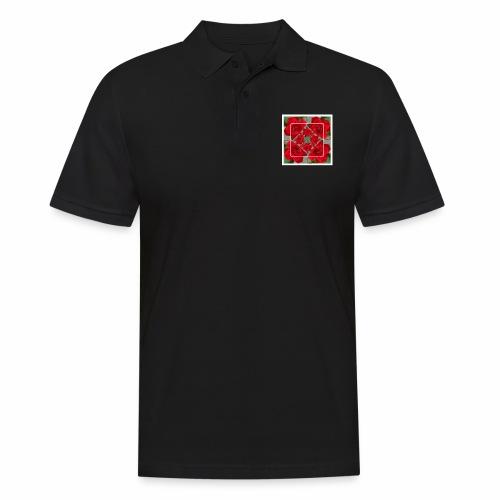 Rose Design - Männer Poloshirt
