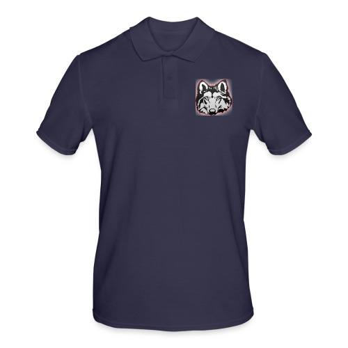 Wolfie (Red) - Men's Polo Shirt