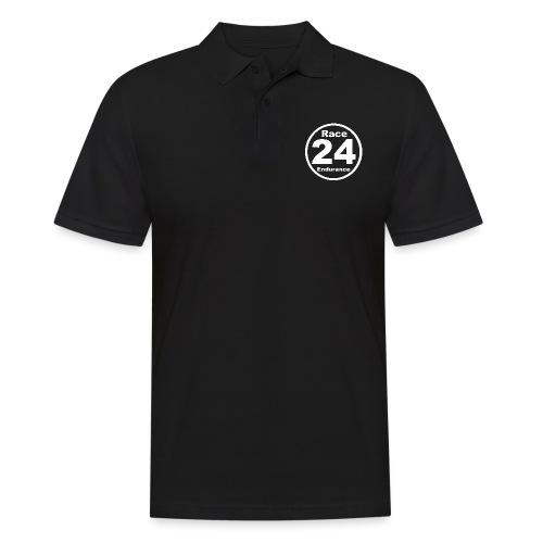 Race24 round logo white - Men's Polo Shirt
