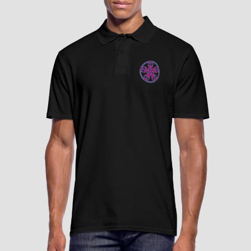 Treble Clef Mandala (red/violet/blue) - Men's Polo Shirt