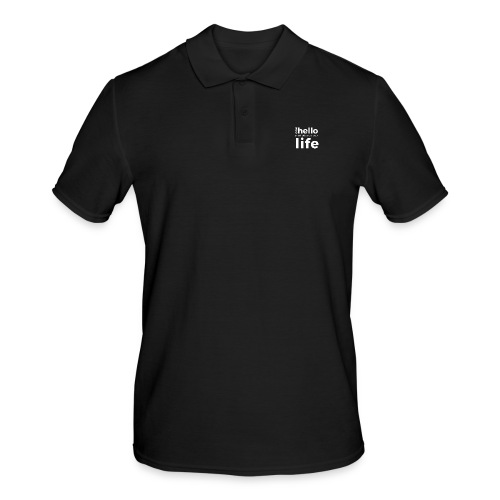 ONE HELLO CAN CHANGE YOUR LIFE - Männer Poloshirt