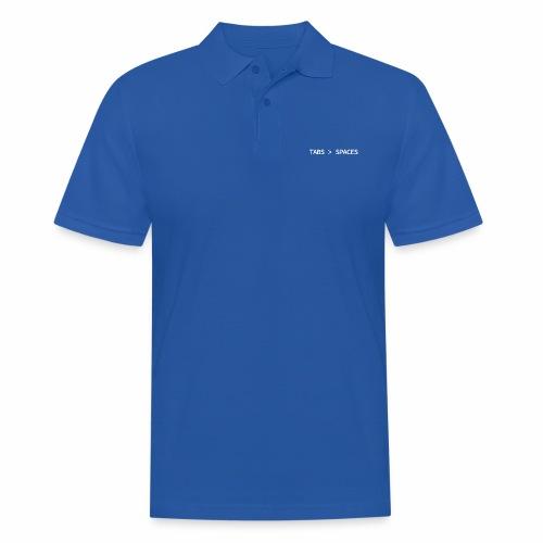 Tabs vs Spaces - Programmer's Tee - Men's Polo Shirt