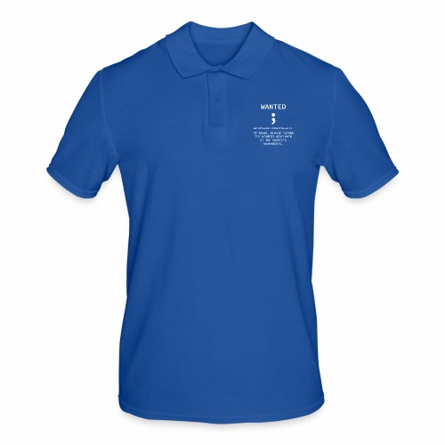 Wanted Semicolon - Programmer's Tee - Men's Polo Shirt