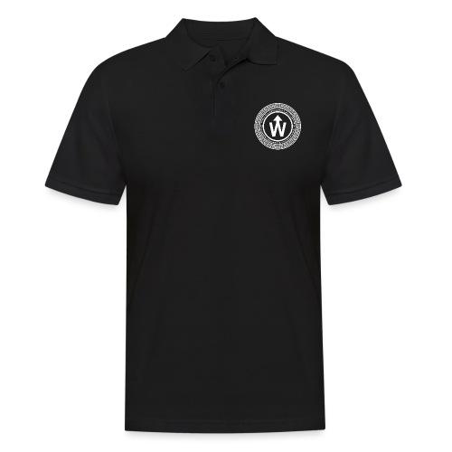 wit logo transparante achtergrond - Mannen poloshirt
