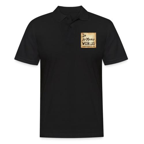 I AM Words LOGO_Brown - Men's Polo Shirt