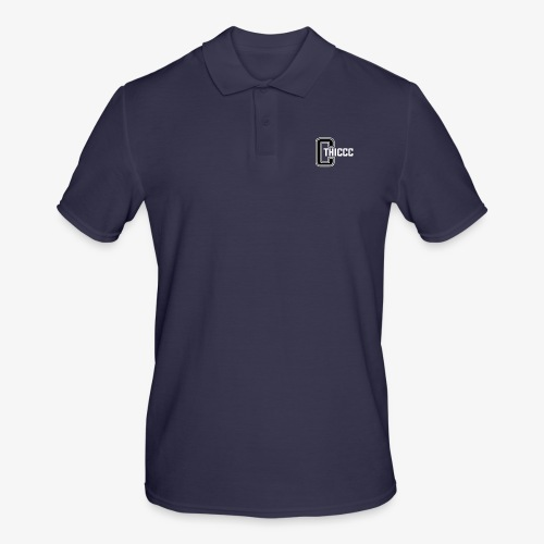 thiccc logo Black and White - Men's Polo Shirt