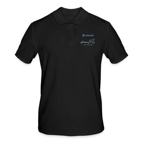 Dogey Chainfree White + blue - Men's Polo Shirt