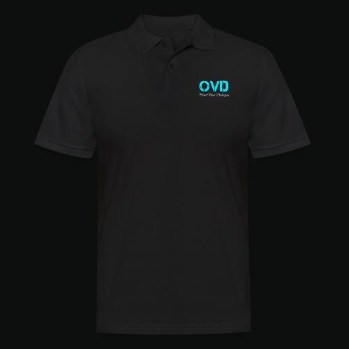 ovd blue text - Men's Polo Shirt