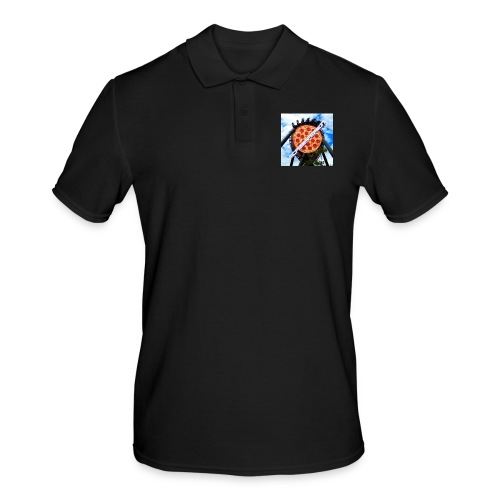 Old McPizzaPerson Logo #2 - Men's Polo Shirt