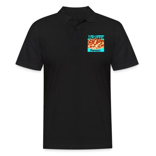 Old McPizzaPerson Logo - Men's Polo Shirt