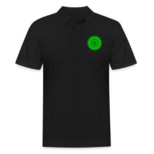 Grüne Sonne - Männer Poloshirt