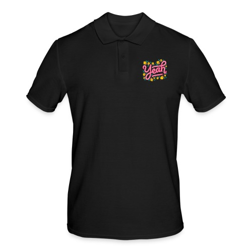 Yeah Aufschrift Lettering - Männer Poloshirt
