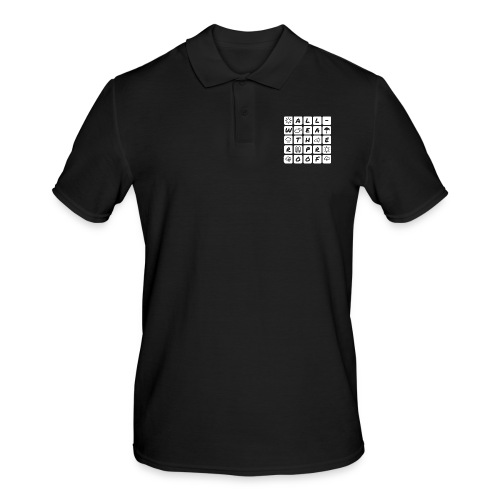 Outdoor - all-weather proof / white-on-black - Männer Poloshirt