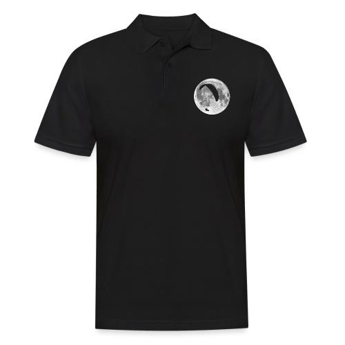 Paragleiter im Mond - Männer Poloshirt