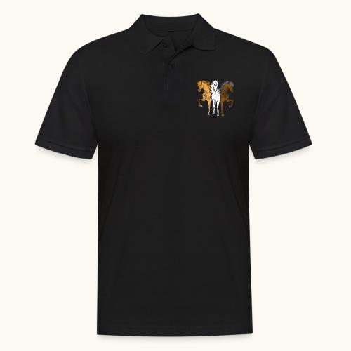 Drôle idée de cadeau chevaux couleurs troika Grunge - Polo Homme