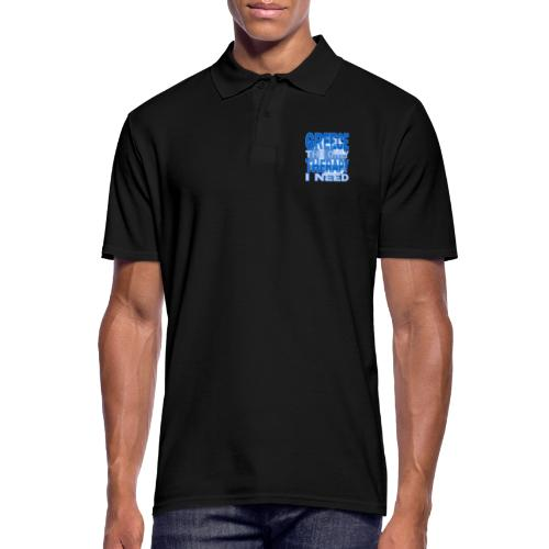 GREECE the only therapy i need - Thassos / Thasos - Männer Poloshirt