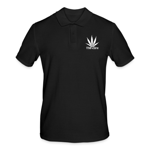 The cure of cannabis leaf. - Men's Polo Shirt