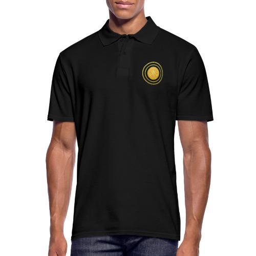 Glückssymbol Sonne - positive Schwingung - Spirale - Männer Poloshirt