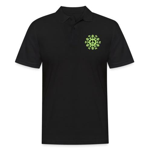 Peace & Love Snowflake - Men's Polo Shirt