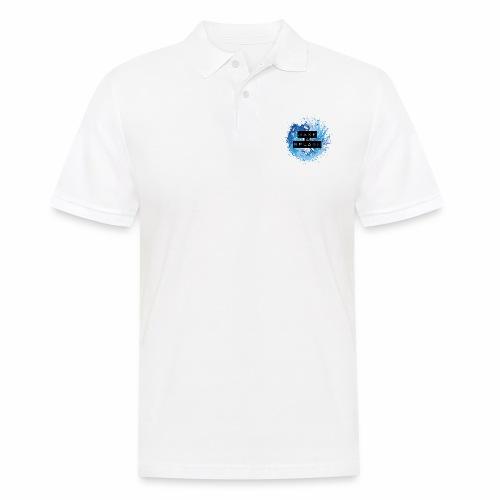 Make a Splash - Aquarell Design in Blau - Männer Poloshirt