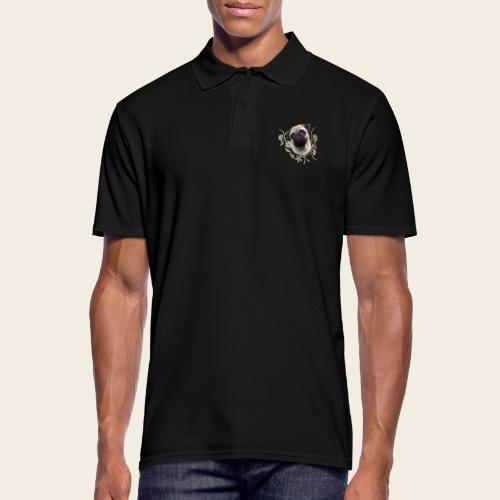 Mops Portrait - Männer Poloshirt