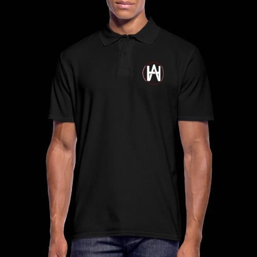 Hombre Alpha Logo en Blanco sobre Negro - Polo hombre
