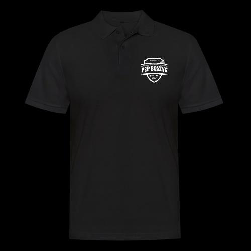 P2P Boxing White Logo - Men's Polo Shirt