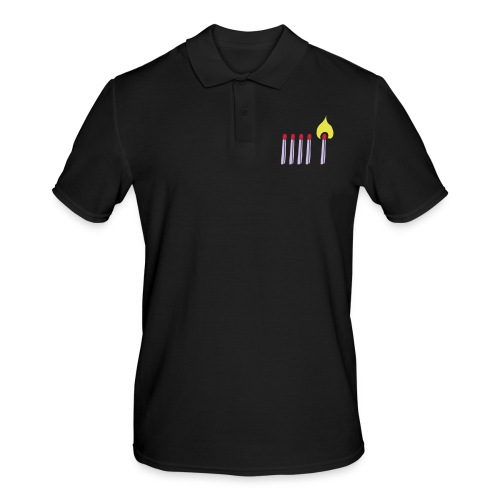 Streichholz Matchsticks Feuer Fire brennen burning - Männer Poloshirt