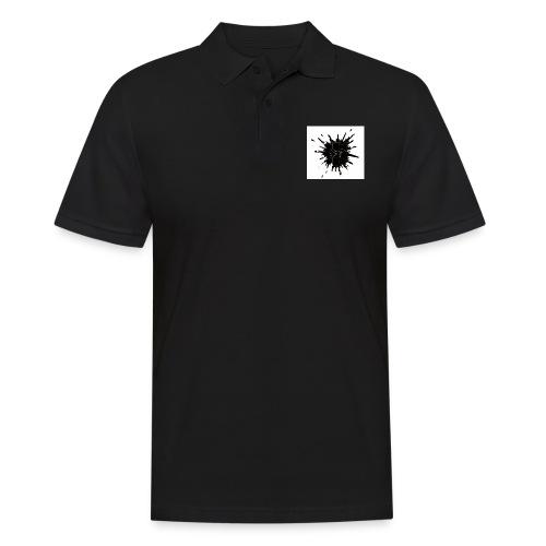 Blacktuber Splash Logo - Mannen poloshirt