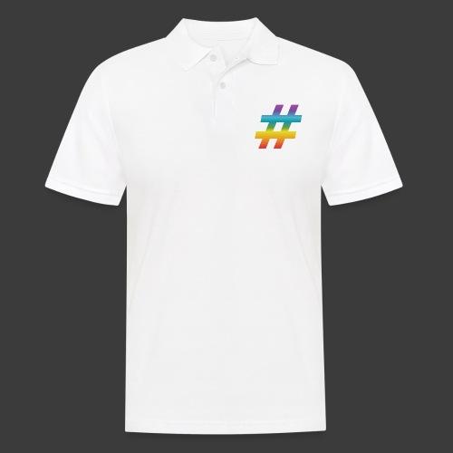 rainbow hash include - Men's Polo Shirt