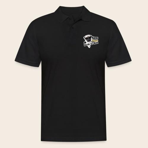 sex pugs rock n roll - Männer Poloshirt