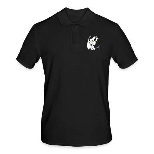 lion blanc.png - Polo Homme
