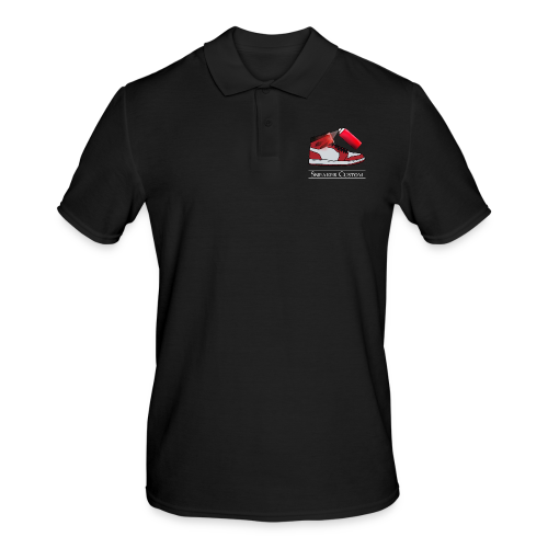 Sneaker Custom Logo /white text - Männer Poloshirt