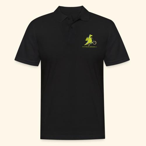 Musikdrache für dunklen Hintergrund - Männer Poloshirt